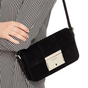 DKNY Demi-Adam Suede Leather Shoulder Bag